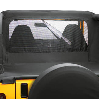 close view of rear window