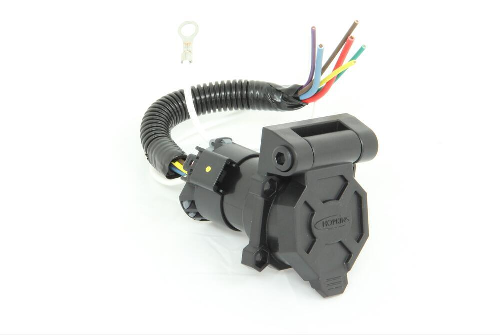 hopkins endurance quick install 7 way trailer connector wiring harness terminals
