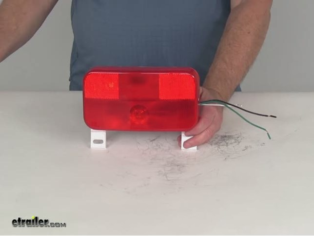 New Trailer Truck LED Steel 6quot OVAL Tail Light Guard Box COMPLETE KIT WITH