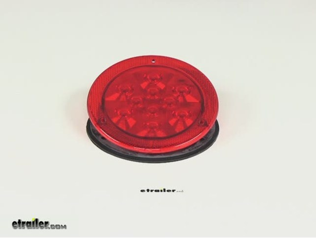 Led Trailer Stop  Turn  Tail Light - 10 Diode - Sealed - Reflex Flange - 4 U0026quot  Round