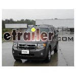 Will Hidden Hitch Class III Part # 87585 Fit 2010 Ford Escape With