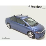 Thule AeroBlade Traverse Roof Rack Installation - 2010 Honda Civic