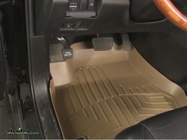 weathertech front auto floor mats black weathertech floor mats wt440141. Black Bedroom Furniture Sets. Home Design Ideas