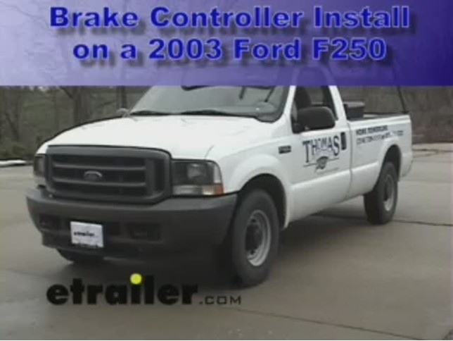 Brake Controller For Ford F 250 And F 350 Super Duty  2004