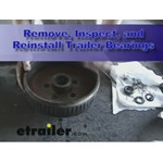 Remove, Inspect, and Reinstall Trailer Bearings, Race, and Seals Demonstration