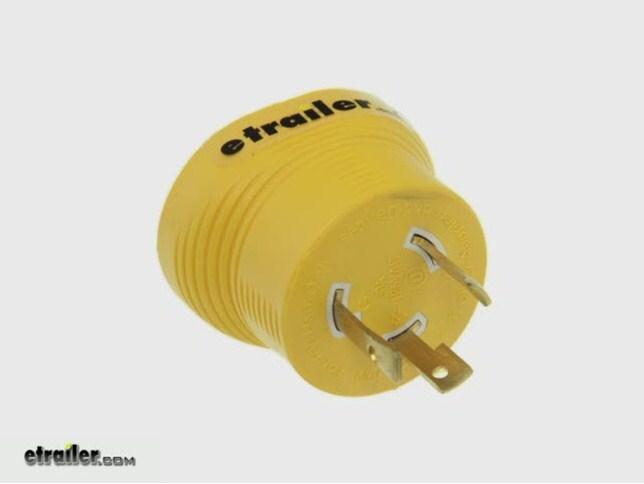 Power Grip Generator Plug Adapter For Rv Power Cord 30