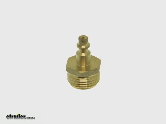 Camco Rv Water Line Blow Out Plug W Quick Connect Brass
