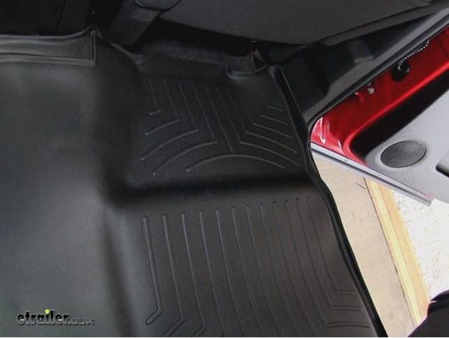Weathertech 2nd Row Rear Auto Floor Mat Black