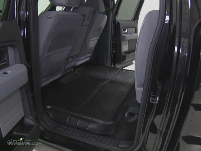 Husky Liners Classic Custom Auto Floor Liner - Rear - Black Husky Liners Floor Mats HL63691