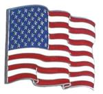 "American Flag Waving 2"" Trailer Hitch Receiver Cover"