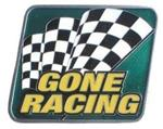 "Gone Racing 2"" Trailer Hitch Receiver Cover"