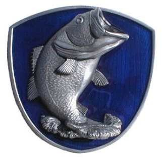Jumping bass 2 trailer hitch receiver cover alfred hitch for Fish hitch cover