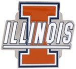 "Illinois Fighting Illini 2"" Trailer Hitch Receiver Cover"