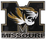 "Missouri Tigers 2"" Trailer Hitch Receiver Cover"