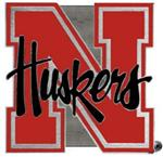 "Nebraska ""Huskers"" 2"" Trailer Hitch Receiver Cover"