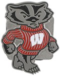 "Wisconsin Badger 2"" Trailer Hitch Receiver Cover"