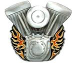 "V-Twin Flaming Engines Trailer Hitch Cover for 2"" Trailer Hitches"