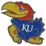 "Kansas Jayhawks 2"" Trailer Hitch Receiver Cover"