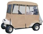 Classic Accessories Deluxe 4 - Sided Golf Cart Enclosure - Sand