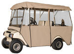 Classic Accessories Deluxe 4 Passenger Golf Cart Enclosure - Sand by Fairway Line