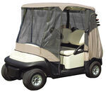 Classic Accessories Bug Protection Golf Cart Enclosure - Tan or Black by Fairway Line
