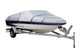 "Classic Accessories Stearns Silver - Tech Boat Cover -16' to 18.5' (beam width 98"")"