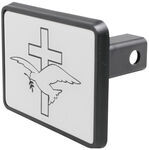 "Dove and Cross Trailer Hitch Receiver Cover for 1-1/4"" Hitches"