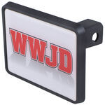 "WWJD Trailer Hitch Receiver Cover for 1-1/4"" Hitches"