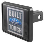"Ford ""Built Ford Tough"" Reflective Trailer Hitch Receiver Cover for 1-1/4"" Receivers"
