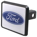 "Ford - Oval Reflective Trailer Hitch Receiver Cover for 1-1/4"" Trailer Hitches"