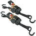 "Retractable Ratchet Straps with Push Button Release, 1"" x 6', 1,500 lbs (Qty 2)"