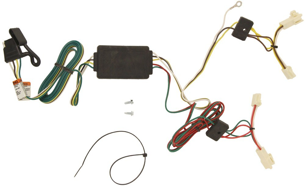 2010 Toyota Corolla Trailer Wiring Harness : T one vehicle wiring harness with pole flat trailer