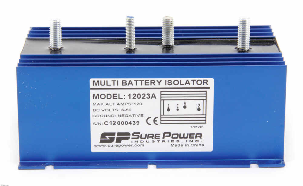 Dual Battery Wiring Diagram 4x4 furthermore 175780 Power Rear Anderson Plug Charge Trailer Battery further Dual Battery Isolator Wiring Diagram also 328842 Blue Sea Add Battery Install likewise 016313. on rv battery isolator wiring diagram