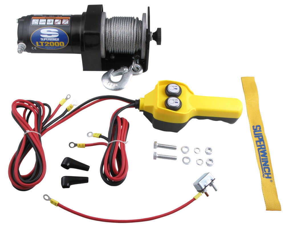 Superwinch LT2000 Electric Utility Winch, 2,000 lbs ...