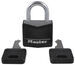 "Master Lock Covered, Solid Body Padlock - 3/16"" Shackle"