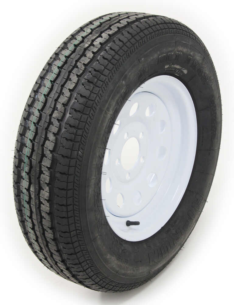 st205 75 r15 radial trailer tire with 15 steel mod wheel 5 on 4 1 2 load range c redline. Black Bedroom Furniture Sets. Home Design Ideas