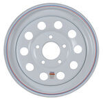 "Steel Mod Trailer Wheel - 15"" x 5"" Rim - 5 on 5 - White Powder Coat"