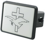 "Dove and Cross Trailer Hitch Receiver Cover for 2"" Hitches"