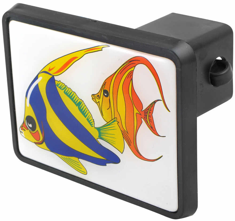 tropical fish trailer hitch receiver cover for 2 hitches