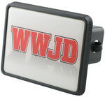 "WWJD Trailer Hitch Receiver Cover for 2"" Hitches"