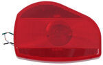 Bargman Surface Mount Tail Light - 07 Series - Red - White Base - Pair w/ 30-07-001