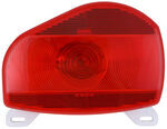 Bargman Surface Mount Tail Light w/ License Plate Light - 07 Series - Red - Pair w/ 30-07-003