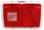 Bargman Recessed, Double Tail Light w/ Backup - 84 Series - Red - Colonial White Base