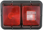 Bargman Recessed, Double Tail Light w/ Backup - 84 Series - Red - Black Base - Horizontal