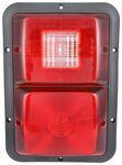 Bargman Recessed, Double Tail Light w/ Backup - 84 Series - Red - Black Base - Vertical