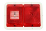 Bargman Recessed, Double Tail Light w/ Backup - 84 Series - Red - White Base