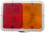 Bargman Recessed, Double Tail Light - 84 Series - Red and Amber - White Base