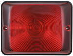 Bargman Single Tail Light - 86 Series - Red - Black Base