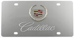 Stainless Steel License Plate Cadillac with Logo Chrome