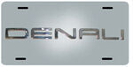 Stainless Steel License Plate Denali Chrome